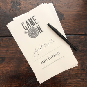 signed Game On page
