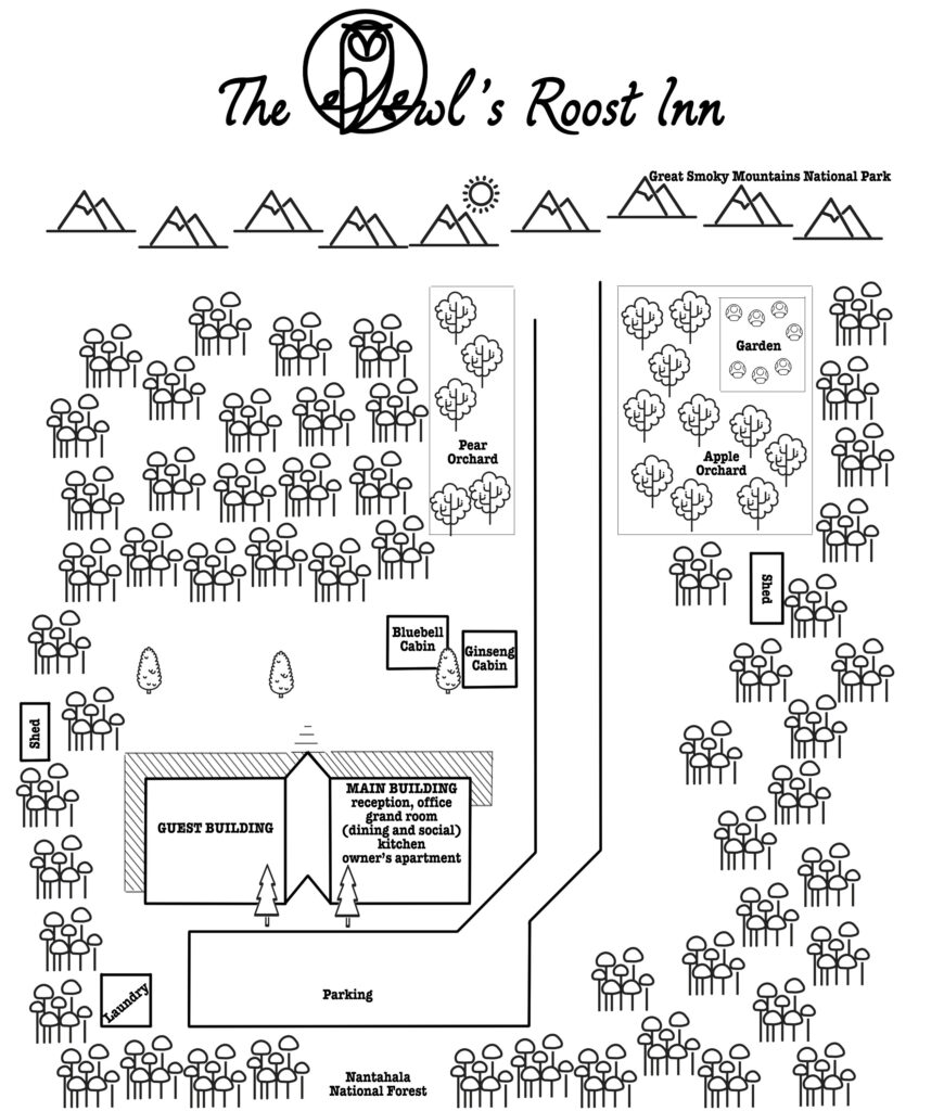Map of The Owl's Roost Inn